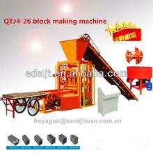 tiger stone block machine QT4-26 hollow block machine,tanzania brick making machine for sale