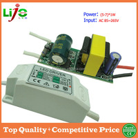 ac220V 5W 6W 7W 300ma constant current led driver for led light power supply