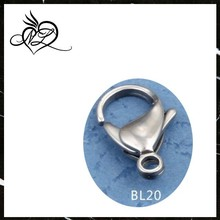 Wholesale large classic fashion jewelry findings stainless steel lobster clasp