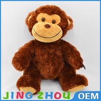 2015 hot sale soft cute stuffed plush monkey