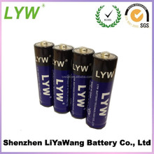 China manufacture factory price size lr6 battery dry battery