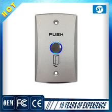 Metal door access push button switch