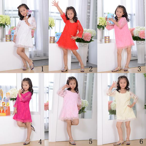 Dress Children Children Fancy Dress Flower