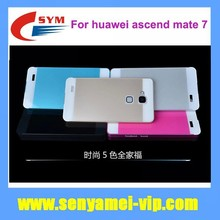 Smart flip cover mobile phone accessiories bumper metal case for huawei mate 7