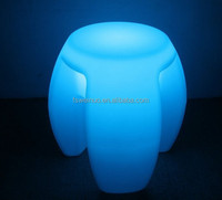 Rechargeable Modern PE LED Table LED furniture LED chair with remote control trendy LED glowing bar chair