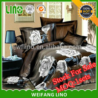 3d polyester stock bed sheet branded/10 sets MOQ online sale outdoor bed sheet