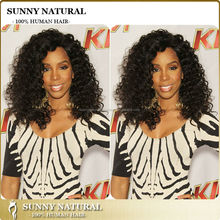 Malaysian Human Hair Wigs 180% Density Natural Black Curly Full Lace Wigs for Black Women