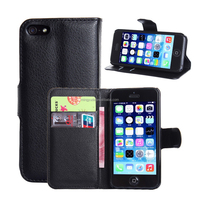 wholesale flip cover pu leather cover mobile phone case for iphone 5