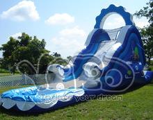 Backyard inflatable water pool slide slip inflatable slide