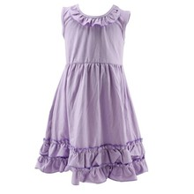 2015 factory price Latest Design Ruffle Knit Fashion Sleeveless Latest Simple Frock Design for Girls