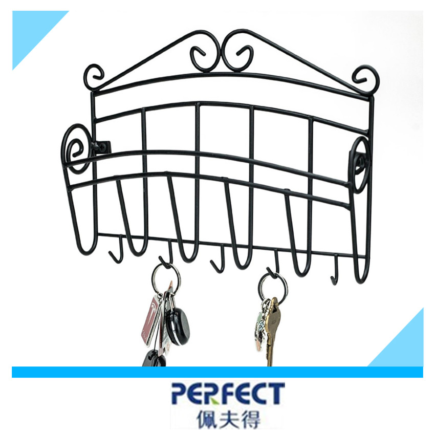 wall mounted metal wire key rack letter stroage shelf. Black Bedroom Furniture Sets. Home Design Ideas