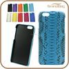 Peacock blue Genuine Python Skin Snakeskin Leather Phone Case for iphone 6 / Iphone 6 Plus