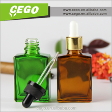 2015 high quality 30ml antique green liquor glass bottle for sale