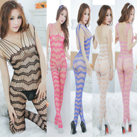 2015 Summer Hot Sleeveless Stripe One Piece Tattoo Lingerie Body Stocking