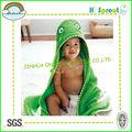 fuerte absorción de agua de los animales toalla de algodón para bebés de la rana verde