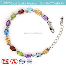 2015 china supplier fashion jewelry new product wholesale white plated natural color stone bracelets for women