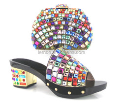 Different style available attractive matching shoes and bag for party SL-882