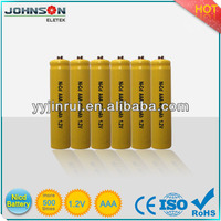 NICD 400mAh 1.2v rechargeable high voltage aaa battteries