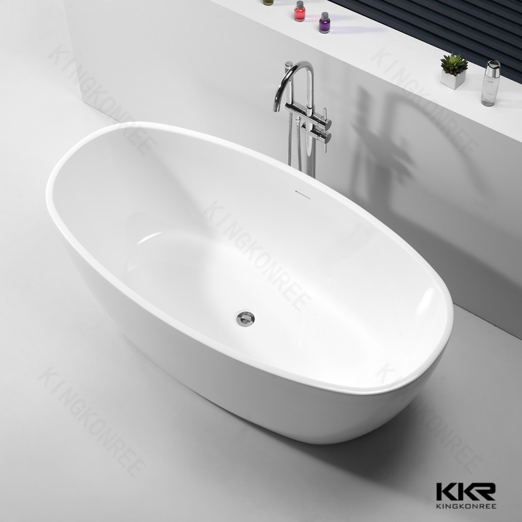 Kingkonree cheap white freestanding bathtub child size for Cheap free standing tubs