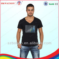 led light up t shirt, led lighting up t shirt wholesale made in china