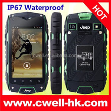 2015 Dual Core Rugged IP68 Waterproof 3G Smartphone Jeep Z6 Android Cell Phone 4 inch Touch Screen
