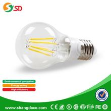 amber warm white 2700k 100LM/W 2W E14 e27 8w Led Filament bulb dimmable Lamp Candle Indoor Lightings