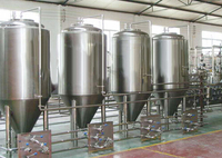 Stainless steel craft insulated resting tank stainless steel conical fermenter