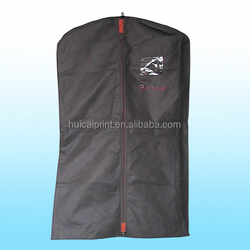 Nonwoven garment bag for suit