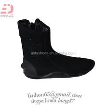 Mens Zip Black Neoprene Dive Boots