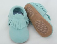 wholesale Lovely hard sole kids baby sude moccasins shoes