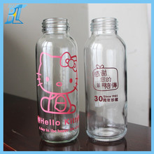300ml drinking glass water bottle sports water bottle Printing Lables