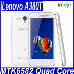 Original Lenovo A380T Mobile phone 4.5'' TFT Quad-core 4GB ROM 5MP Good Camera Multi language cell phones 2250mAh Battery