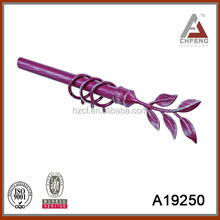 different shapes aluminum curtain pole,bracket,rings