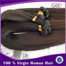 Continuous used dark brown color human hair weaving