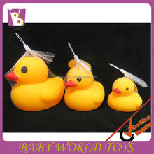 Yellow plastic ducks with BB whistle,bath duck toy,rubber duck