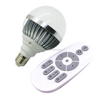 Newest 2.4G Wireless Led Lamp E27 12W Dimmable Adjustable Warm Light Led Bulb With Remote Controller
