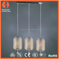 best selling products in America good price 3 lights modern beautiful home decoration pendant lighting with crystals MP8294-3A