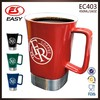Wholesale hot selling custom 16oz bulk coffee mugs with stainless steel base