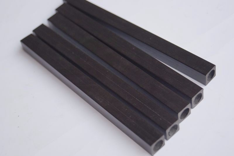 carbon fiber square tube with round hole