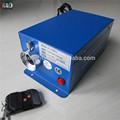 buen ventilador de enfriamiento de centelleo de la rueda de color mini 75w halógena luz de fibra óptica del motor