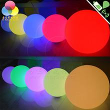 Water light plastic ball led outdoor garden colorful glowing ball lamp KTV bar supplies pool lamp 50 cm ball