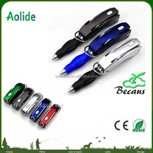 Multi-function ball pen fold pen with bottle opener and knife customer LOGO print ball pen