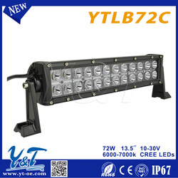 1 YEAR WARRANTY off road led light bar with CE offroad led light bar for car 72w led driving light bar used as 4x4 accessories