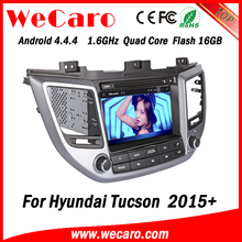 Wecaro WC-HU8015 Android 4.4.4 car multimedia system double din for hyundai ix35 dvd gps audio system GPS