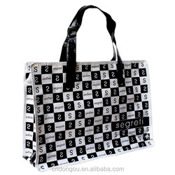 Promotional Cheap Waterproof Tote Woven Bags With Zipper Closure