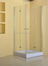 6 mm tempered glass shower room with hinge open style