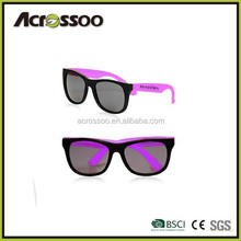 Promotional plastic cheap sun glasses/Custom wholesale two tone sunglasses polarized wayfarer sunglasses with custom logo
