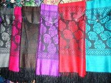 pashmina shawl,2012 new knitted rose flower pattern scarf ,selling hot muslim pashmina scarf