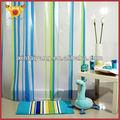 cor da listra impressa plástico transparente de pvc chuveiro cortina de janela fábrica vectores de produtos