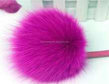 Pom Pom Beanie/sheepskin fur key chain/raccoon fur ball keychain